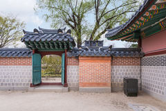 gyeongbokgungslott seoul Arkivfoton