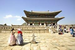 Gyeongbokpaleis, Seoel, Korea Stock Afbeeldingen