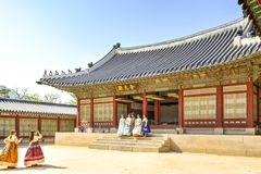 Gyeongbokpaleis, Seoel, Korea Stock Fotografie