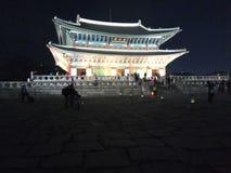 Gyeongbukgong夜射击 免版税库存图片