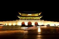 Gyeongbukgong bis zum Nacht lizenzfreies stockbild