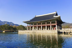 Gyeonghoeru Floor. South Korea where the ancient palace banquets Royalty Free Stock Photo