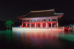 Gyeonghoeru at night - Gyeongbokgung palace, Seoul,  Republic of Korea Royalty Free Stock Images