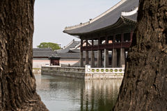 Gyeonghoeru Pavilion of Gyeongbokgung Palace, Seoul, South Korea Royalty Free Stock Photo