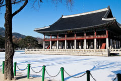 Gyeonghoeru-Pavillon--Gyeongbokgungpalast Lizenzfreie Stockfotografie