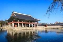 Gyeonghoeru-Pavillon in Gyeongbokgungs-Palast Lizenzfreie Stockfotografie