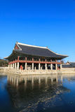 Gyeonghoeru-Pavillon in Gyeongbokgungs-Palast Stockfotografie