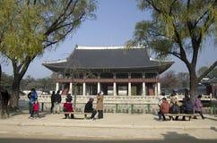 Gyeonghoeru przy Gyeongbokgung pałac Seul Korea fotografia stock