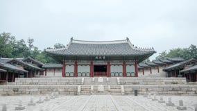 Gyeonghuigung slott i Seoul, Korea i Juni, 2017 royaltyfri fotografi