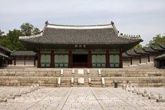 Gyeonghuigung slott i Seoul, Sydkorea Arkivfoto
