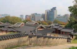 Gyeonghuigung slott Seoul Sydkorea Arkivbild