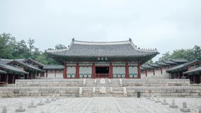 Gyeonghuigungpaleis in Seoel, Korea in Juni, 2017 royalty-vrije stock fotografie