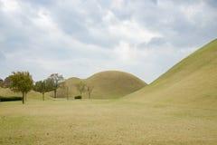 GYEONGJU, KOREA - OCTOBER 20, 2014: Daereungwon Ancient Tombs Royalty Free Stock Image