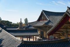 GYEONGJU, KOREA - 19. OKTOBER 2014: Ansicht von Bulguksa Stockfoto