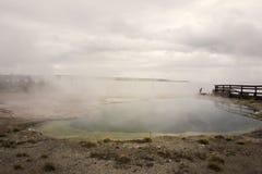 Gyeser水池在黄石 免版税库存照片