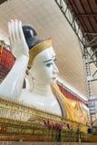 Gyi Bouddha étendu de htat de Chauk Photographie stock libre de droits
