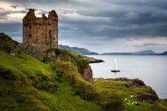 Gylen Castle boat Stock Images