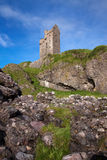 Gylen-Schloss, Kerrera, Argyll und hochgebogene Hinterkante, Schottland Stockfotografie