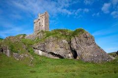 Gylen-Schloss, Kerrera, Argyll und hochgebogene Hinterkante, Schottland Lizenzfreie Stockfotos