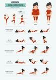 Gym ćwiczenia, silny sedno trening royalty ilustracja