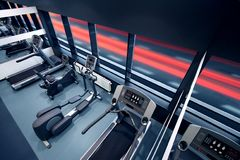 Gym. Fitness train workout exercise Stock Image