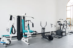 Gym. Modern gym with fitness machines Stock Photo