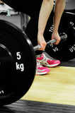 Gym. Fitness Equipment in a Gym, Weight Lifting Stock Images