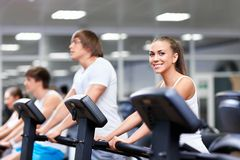 In the gym Stock Image