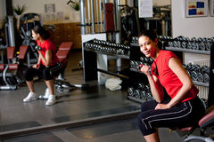 In the gym Royalty Free Stock Image