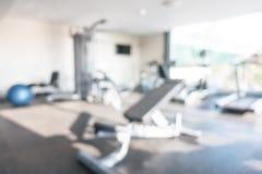 Gym abstrato e aptidão do borrão fotografia de stock