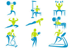 Gym Activity Royalty Free Stock Images
