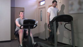 Gym activity stock footage