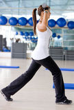 Gym aerobics Royalty Free Stock Images