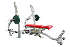 Gym apparatus. In gym hall Royalty Free Stock Photography