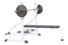 Gym apparatus. Under the white background Royalty Free Stock Photography