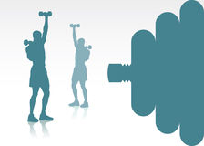 Gym background Royalty Free Stock Photo