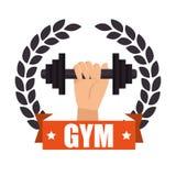 Gym badge sport label design Stock Images
