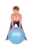 Gym ball Stock Images