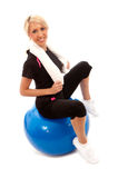 Gym Ball Royalty Free Stock Photography