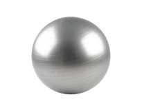 Gym ball. Gray gym ball for exercise Royalty Free Stock Images