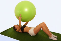 Gym ball exercise Royalty Free Stock Images