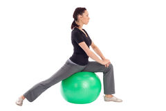 Gym Ball Stretching Exercise Royalty Free Stock Photos
