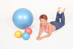 Gym balls Royalty Free Stock Images