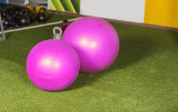 Gym balls Royalty Free Stock Photography