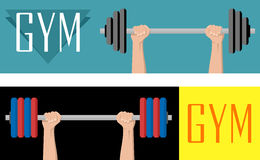 Gym banner Stock Images