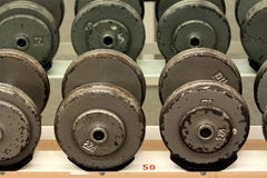 Gym Barbells Royalty Free Stock Photos