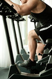Gym bicycle fitness Royalty Free Stock Photos