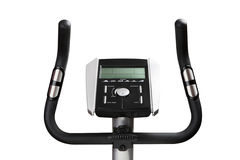 Gym bicycle machine monitor Royalty Free Stock Photo