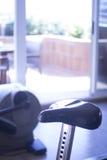 Gym bike exercise cycle machine Stock Photos