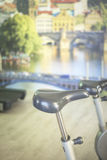Gym bike exercise cycle machine Stock Photography